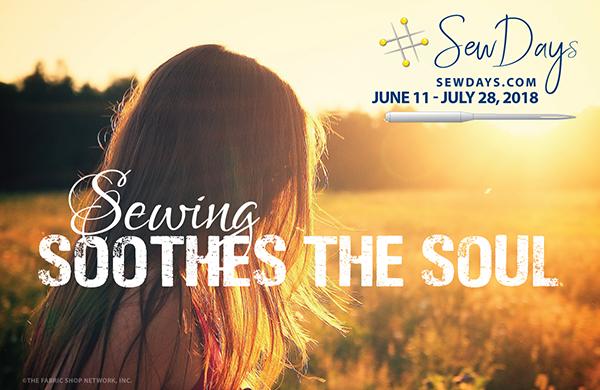 #Sew Days June 11-July 28, 2018