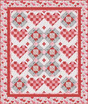 Download Dear Heart (Quilt 1) by Studioe Fabrics