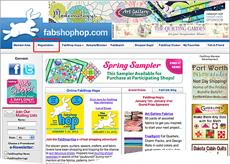 Fabshop Hop Registration