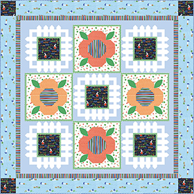 Download Bunny's Garden Quilt by Michael Miller Fabrics