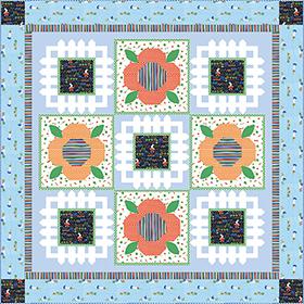 Download Bunny's Garden Quilt by Michael Miller Fabrics