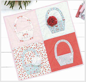 Download Spring Basket Wall Quilt by Fabric Editions