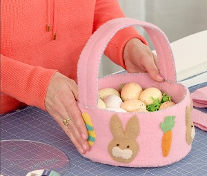 Wool Easter Basket Template