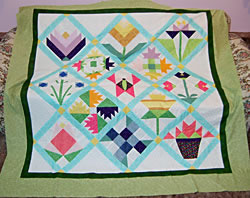My Spring Bouquet Quilt by Lori Neilson